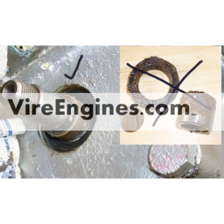 VIRE 6/7/12 Stainless Steel Gearbox Output Bush With Seal